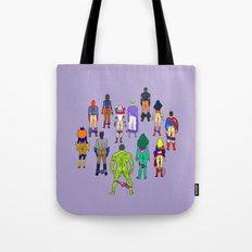 Superhero Power Couple Butts - Violet Tote Bag