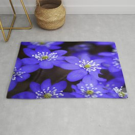 First Spring Flowers in Forest #decor #society6 #buyart Rug