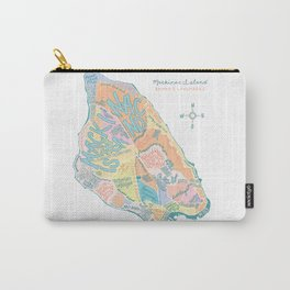 Mackinac Island Map : pastels Carry-All Pouch