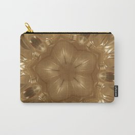 Elegant Gold Brown Shimmering Star Carry-All Pouch