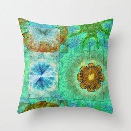 Superinstitute Open Flower  ID:16165-114222-70591 Throw Pillow