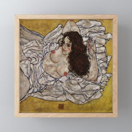 "Egon Schiele ""Reclining Woman"" Framed Mini Art Print"