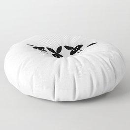broken bunny Floor Pillow