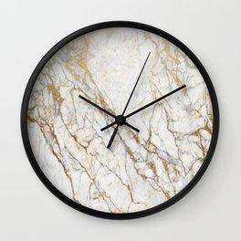 marble gold glitter Wall Clock
