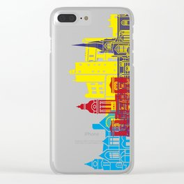 Chesterfield UK skyline pop Clear iPhone Case