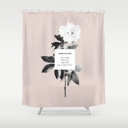 Como Se Flor Shower Curtain