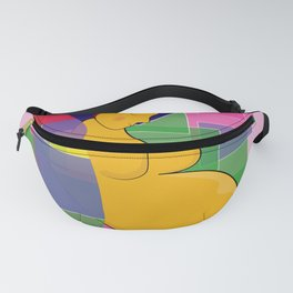Mother of blue and green on the wall tapestry of pink color Fanny Pack