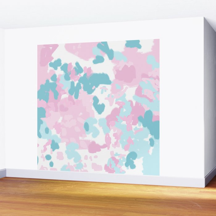 Abstract painted pastel candyland minimal art by charlotte winter