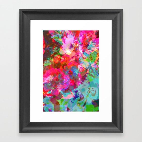 NEON GARDEN Framed Art Print