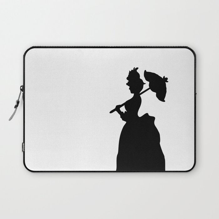 Victorian Woman - black & white - Woman in a Dressing Gown Laptop ...