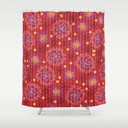 Kantha floral 5 Shower Curtain