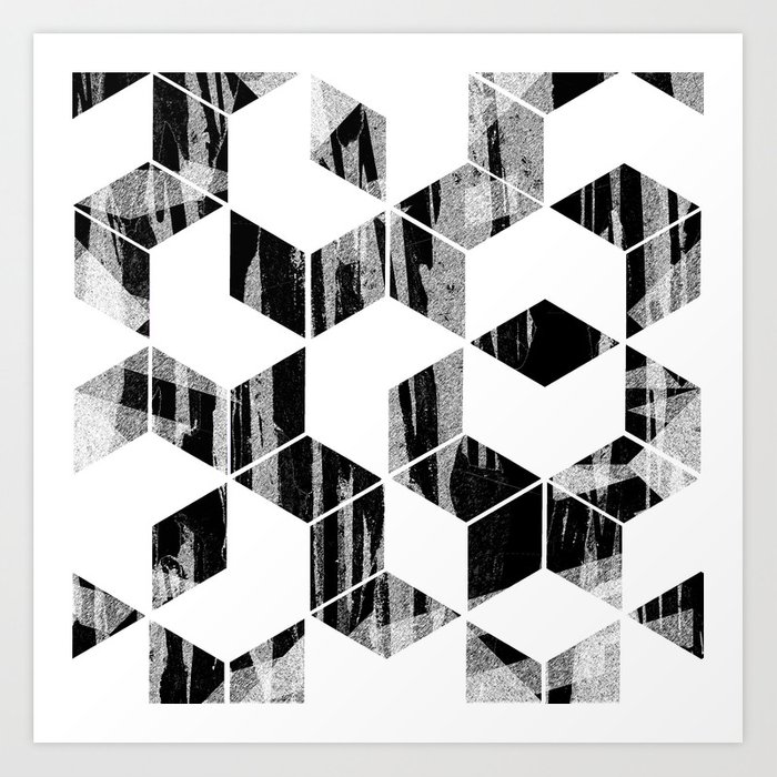 Elegant Black and White Geometric Design Kunstdrucke