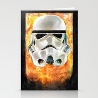 stormtrooper Stationery Cards featuring Stormtrooper by Mishel Robinadeh