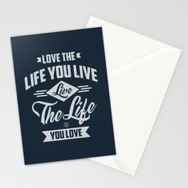 Love The Life - Motivation Stationery Cards