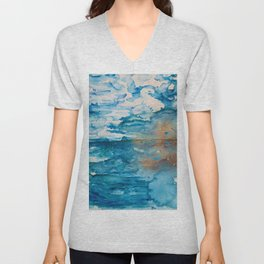 Save The Oceans, Cabo Beaches Unisex V-Neck