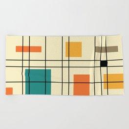 1950's Abstract Art Beach Towel