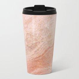 Polished Rose Gold Marble Travel Mug