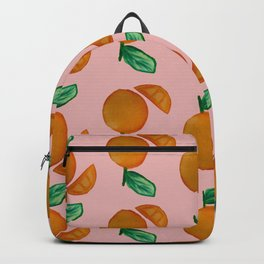 Summery Citrus Orange Backpack