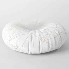 Geometric Gold Minimalist Design Floor Pillow