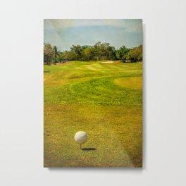 Golfing Metal Print