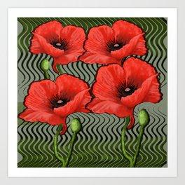 Poppy Design Art Print