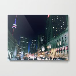 6ix Side Evening Metal Print