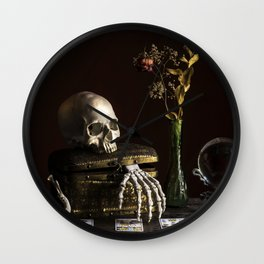 Vanitas, Memento Mori, Macabre Halloween Photo Wall Clock
