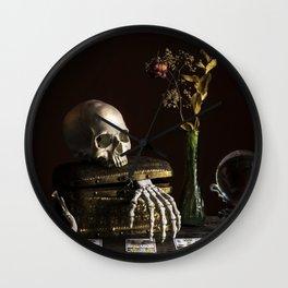 Vanitas, Memento Mori, Macabre Halloween Photo Wall Clock