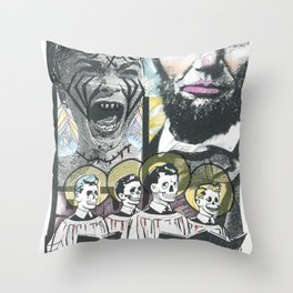 Psycho Lincoln Throw Pillow