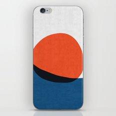 Blue and red modern art IV iPhone Skin