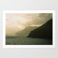 Amalfi Horizon Art Print