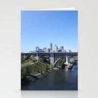 minneapolis Stationery Cards featuring Minneapolis by SaltyDesigns