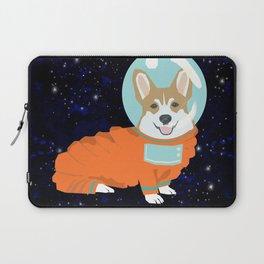 Corgi spacedog astronaut outer space red corgis dog portrait gifts Laptop Sleeve