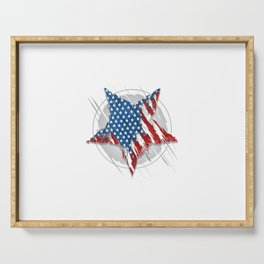 Star America Usa Flag Abstract Grunge Eps Element Vector Serving Tray