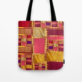 """""""Exotic fabric, ethnic and bohemian style, patches"""" Tote Bag"""
