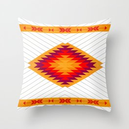053 Traditional navajo pattern interpretation Throw Pillow