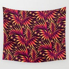 Waikiki Palm - Orange Wall Tapestry