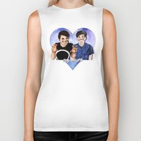 danisnotonfire Biker Tanks featuring DAN AND PHIL by Share_Shop