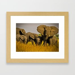 The Whole Family is Here Framed Art Print