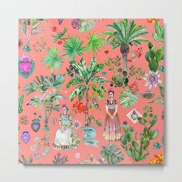 Frida's Coral Garden Metal Print