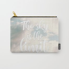 Modern the sky is the limit motivation typography clouds photography Carry-All Pouch