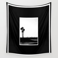 san diego Wall Tapestries featuring San Diego Palm Trees by Derek Delacroix