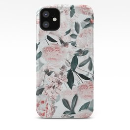 Blush Sepia Peony Flowers Garden iPhone Case