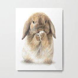 Zlatan the Bunny  Metal Print
