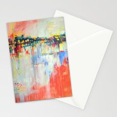 on the water,  expressive landscape, abstract Stationery Cards
