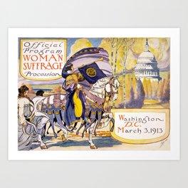 Woman suffrage procession March 3, 1913 Art Print