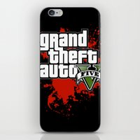 grand theft auto iPhone & iPod Skins featuring grand theft auto 5 by Dan Solo Galleries