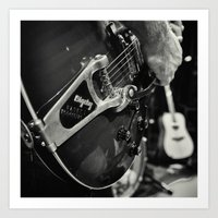 guild guitar with bigsby  Art Print