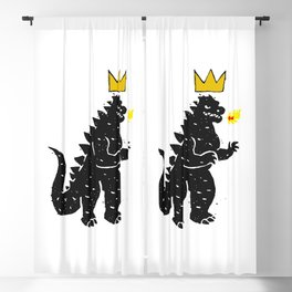 Jean-Michel Basquiat's Crown on Japanese Monster Blackout Curtain