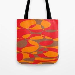 Red, orange and brown elliptical design Tote Bag